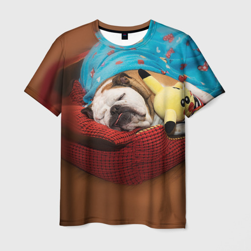 Мужская футболка 3D Bulldog 11
