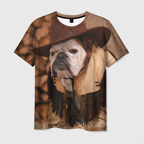 Мужская футболка 3D Bulldog 6