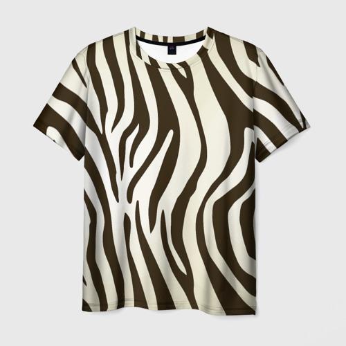 Мужская футболка 3D Шкура зебры