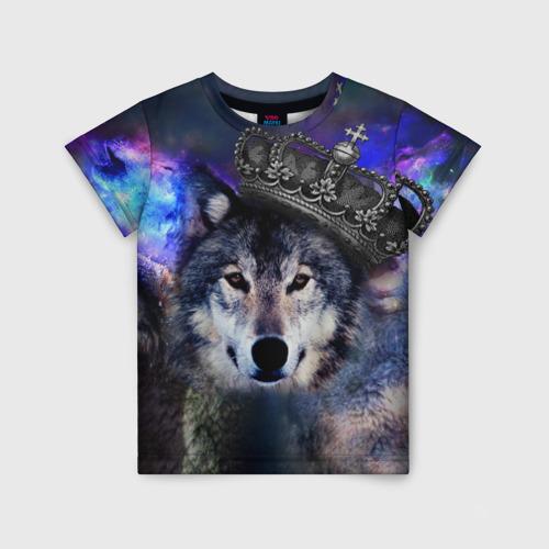 Детская футболка 3D King Wolf