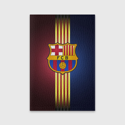 Обложка для паспорта матовая кожа Barcelona FC