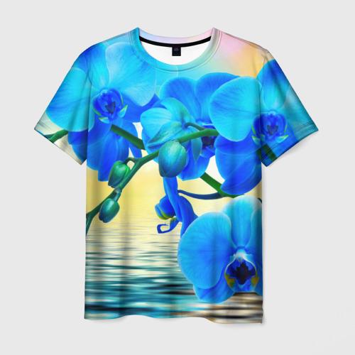 Мужская футболка 3D Орхидеи
