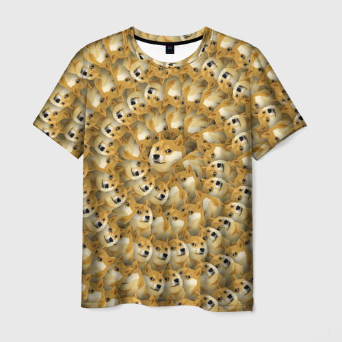 Мужская футболка 3D Фрактал из Doge