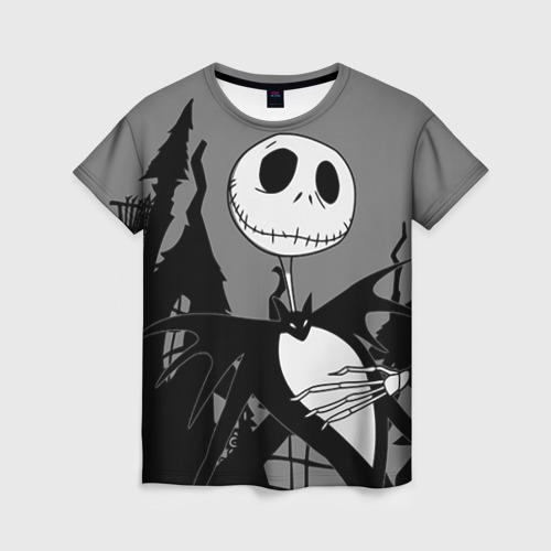 Женская футболка 3D Джек повелитель тыкв