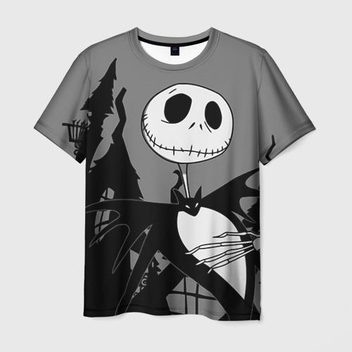 Мужская футболка 3D Джек повелитель тыкв