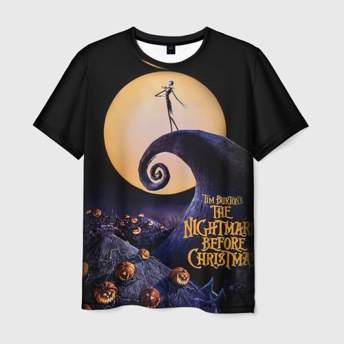 Мужская футболка 3D nightmare before christmas