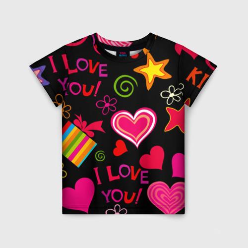 Детская футболка 3D Праздник любви