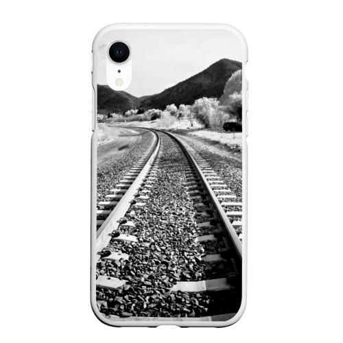 Чехол для iPhone XR матовый Железная дорога
