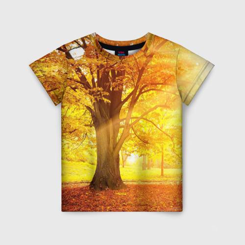 Детская футболка 3D Осень