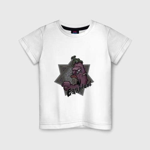 Детская футболка хлопок ЗомбиБаклажан