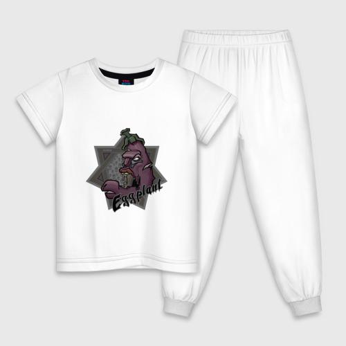 Детская пижама хлопок ЗомбиБаклажан