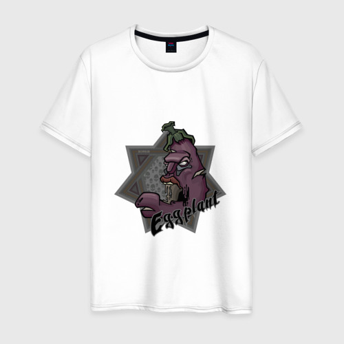 Мужская футболка хлопок ЗомбиБаклажан