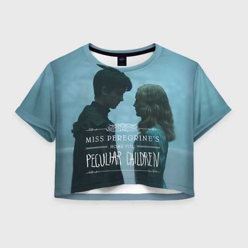Женская футболка Crop-top 3D Джейкоб и Элла
