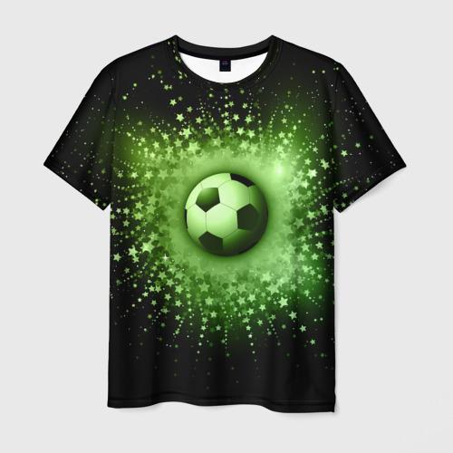 Мужская футболка 3D Футбольный мяч 4