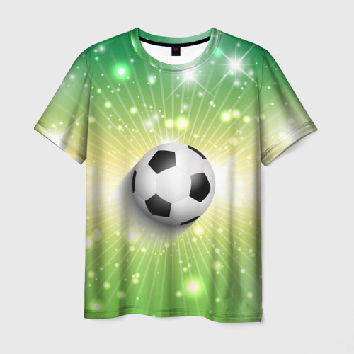 Мужская футболка 3D Футбольный мяч 3
