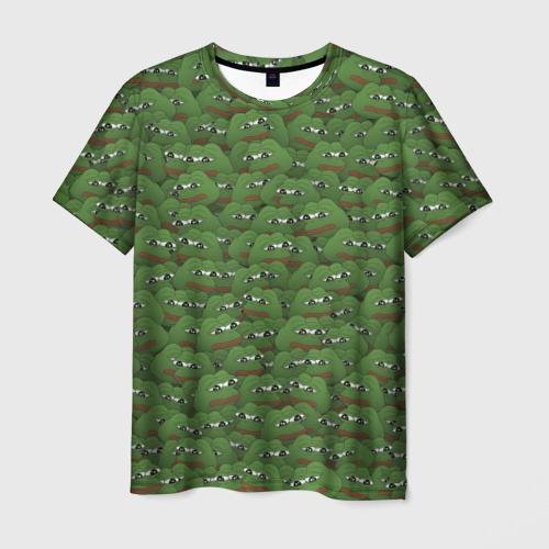 Мужская футболка 3D Грустные лягушки