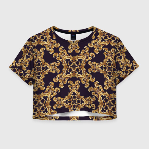 Женская футболка Crop-top 3D Style
