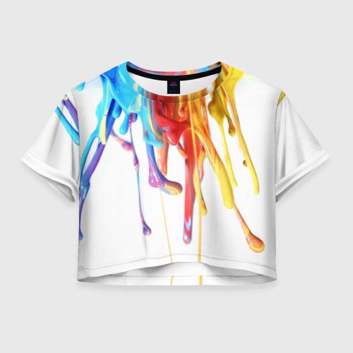 Женская футболка Crop-top 3D Краска