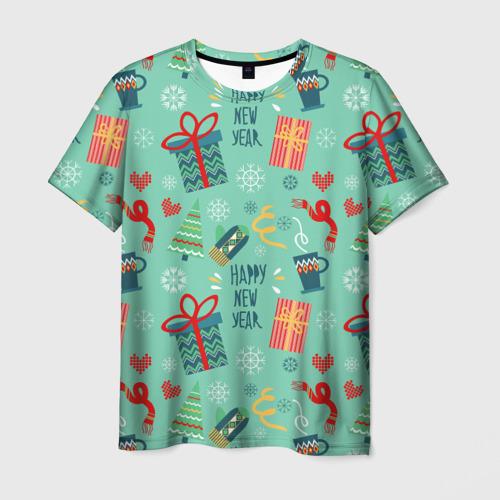Мужская футболка 3D Новый год от new.art.fox