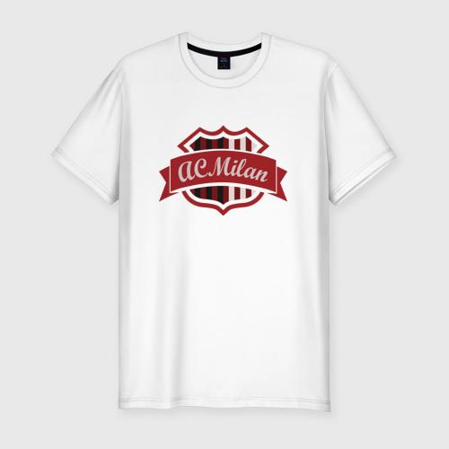 Мужская футболка хлопок Slim ФК Милан