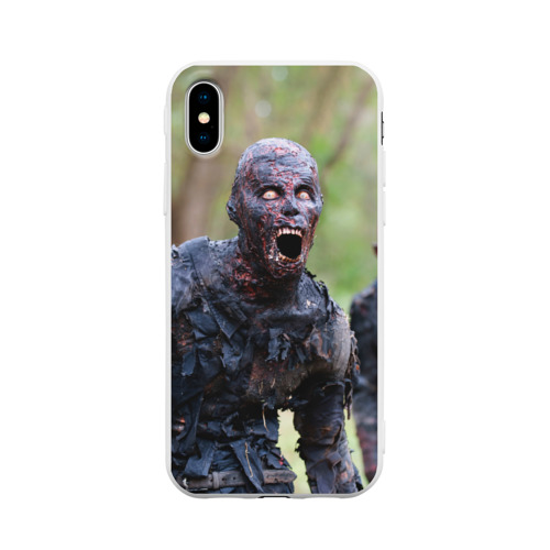 Чехол для iPhone X матовый Zombie