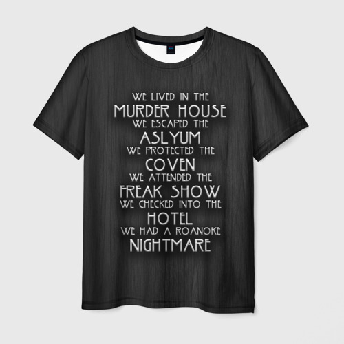 Мужская футболка 3D Американская история ужасов