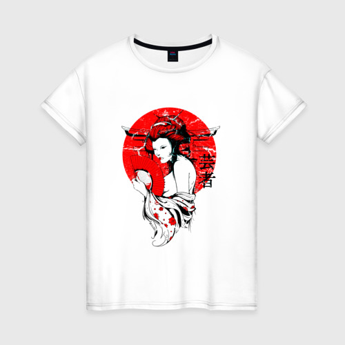 Женская футболка хлопок Гейша
