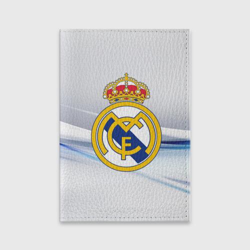 Обложка для паспорта матовая кожа Реал Мадрид