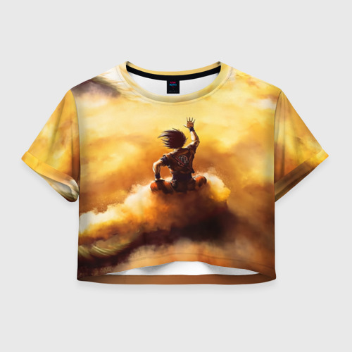 Женская футболка Crop-top 3D Cloud