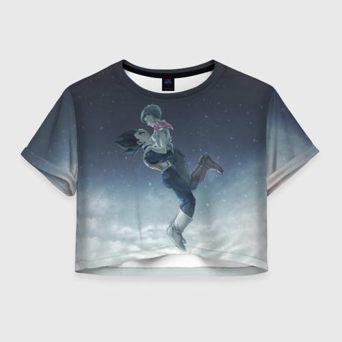 Женская футболка Crop-top 3D Ваджита и Бульма