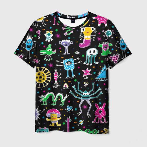 Мужская футболка 3D Космо вечеринка