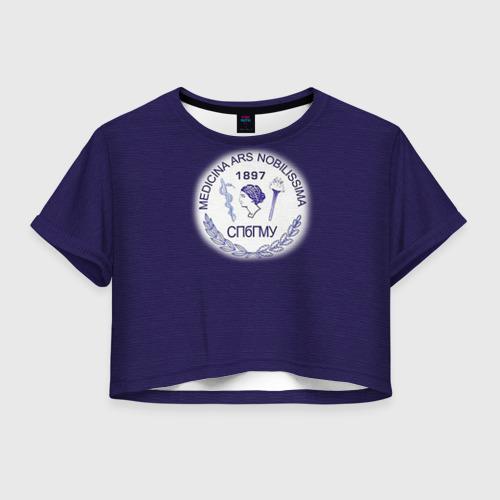 Женская футболка Crop-top 3D СПбГМУ