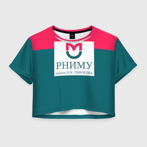 Женская футболка Crop-top 3D РНИМУ