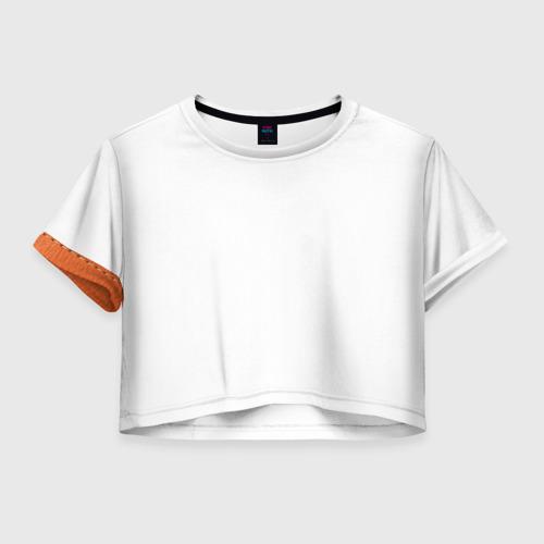 Женская футболка Crop-top 3D Кожа