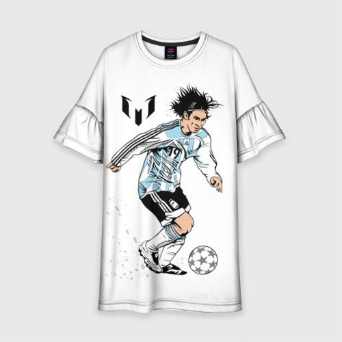 Детское платье 3D Messi