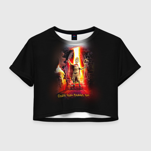 Женская футболка Crop-top 3D Девять 1