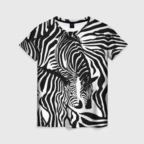 Женская футболка 3D Зебра