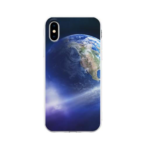 Чехол для iPhone X матовый Космос
