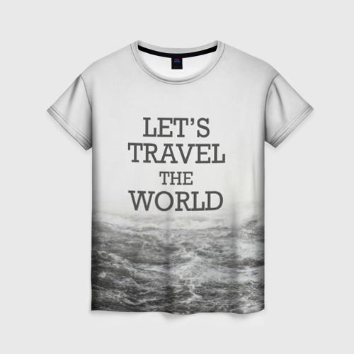 Женская футболка 3D приключения