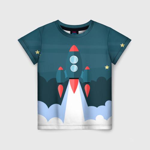 Детская футболка 3D Ракета