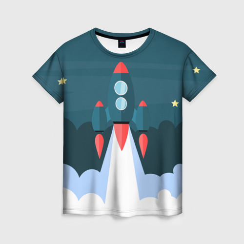 Женская футболка 3D Ракета