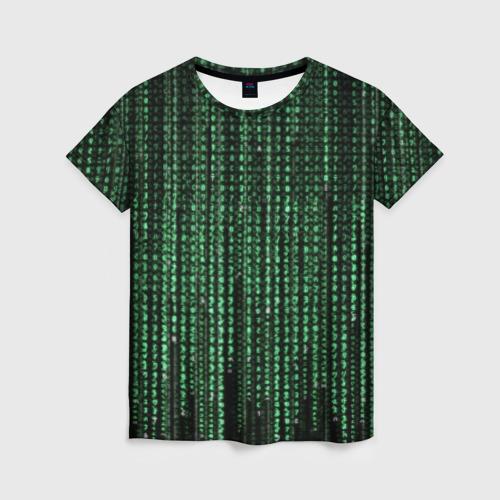 Женская футболка 3D Матрица