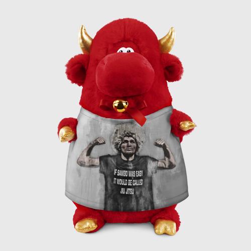 Игрушка Бычок в футболке 3D Хабиб