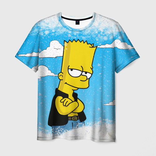 Мужская футболка 3D Симпсоны новогодние 1