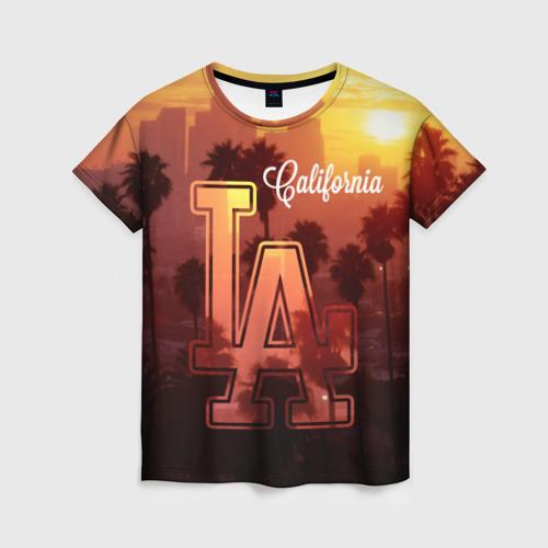 Женская футболка 3D Калифорния