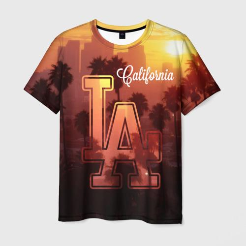 Мужская футболка 3D Калифорния