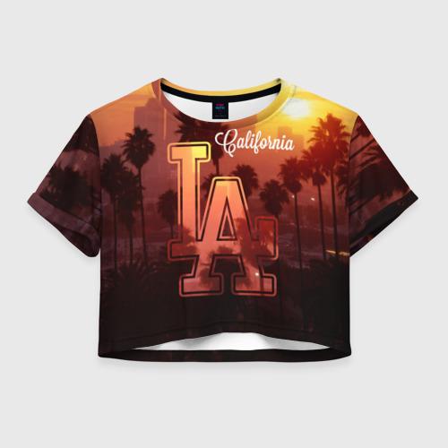 Женская футболка Crop-top 3D Калифорния