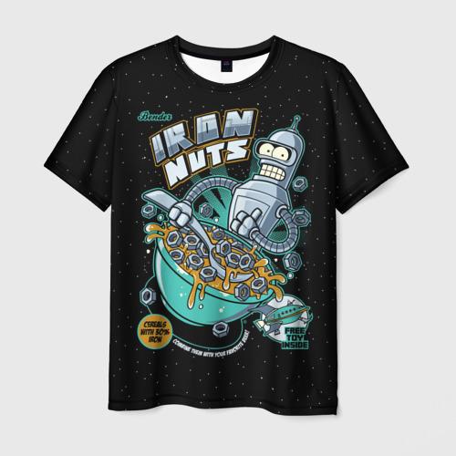 Мужская футболка 3D Iron Nuts