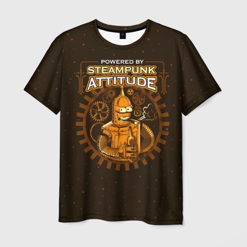 Мужская футболка 3D Steampunk Attitude