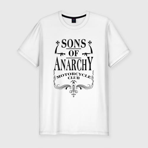 Мужская футболка хлопок Slim Сыны Анархии Whiskey